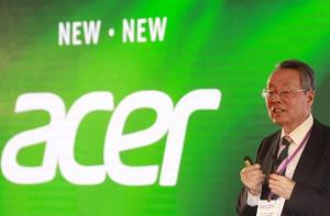 Acer founder and honorary chairman Stan Shih delivers a speech during the 2015 Computex exhibition in Taipei