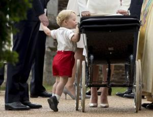 File photograph of Britain's Prince George in Sandringham