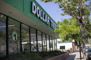 Exterior view of a Dollar Tree store is seen in Pasadena, California