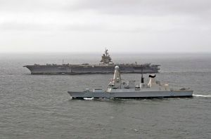 US_Aircraft_Carrier_USS_Enterprise_Sailing_with_HMS_Diamond_MOD_45154179